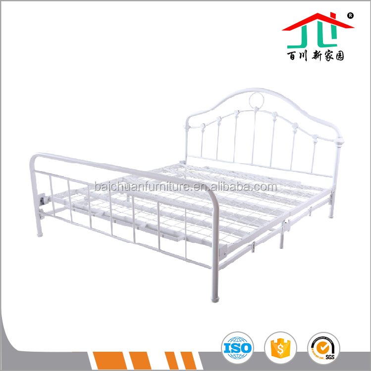 Hot Sale White Metal Bedroom Futniture Metal Bed Frame
