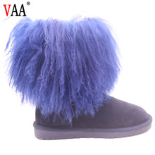 CF-088 Free Samples Latest Design Cow Suede Faux Fur Winter Boots And Shoes Lady