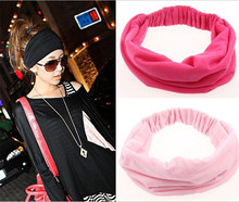 Colorful Solid Sport Spandex Headband Cheap Wide Jersey Stretchy Headbands For Young People