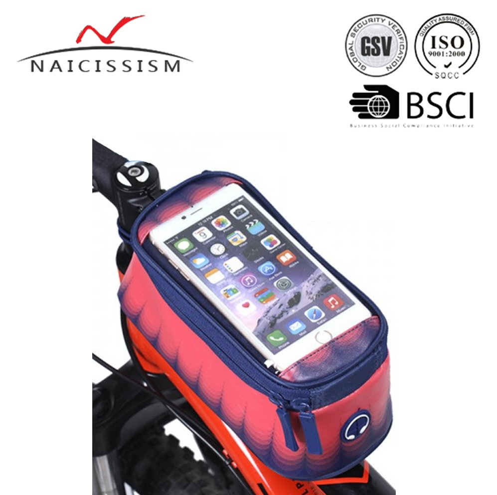 5.5'' Waterproof Toucscreen Dual Zipper 2.5L Capacity Mountain Bike Road Bicycle Cycling