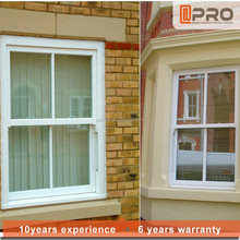 Aluminum picture frame double hung windows of tempered glass price