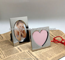mini 2x3 magic stainless steel photo frame heart shape photo frame for birthday gift