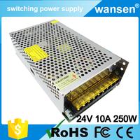 1 years warranty 220v 24v ac dc 250w smps switch power supply 24v 10a power supply