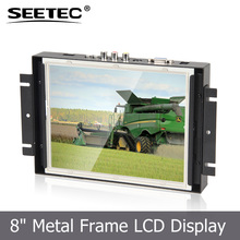 "8"" TFT LCD open frame display resolution 800X600 HDMI VGA input touchscreen monitor"