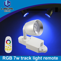 Langma 2 lines 7w RGB color changing Iphone mobile remote Control led track light wifi dimmable RGBW/WW smart track spotlight
