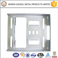 custom service profesional zinc plated steel garage door bracket custom made sheet metal spinning parts