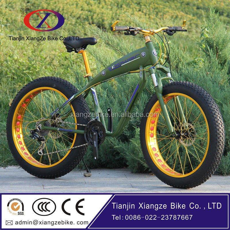 aluminum frame fat tyre bike high quality 21 speeds light weight fat bicycle
