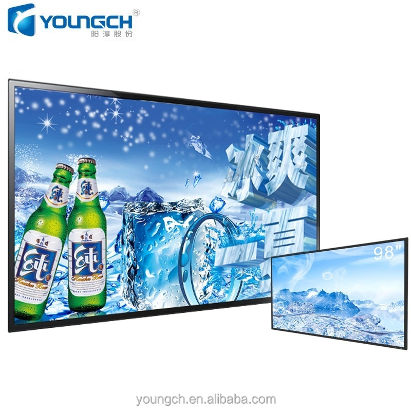 8K UHD commercial LCD monitor 98 inch with industrial grade LCD panel