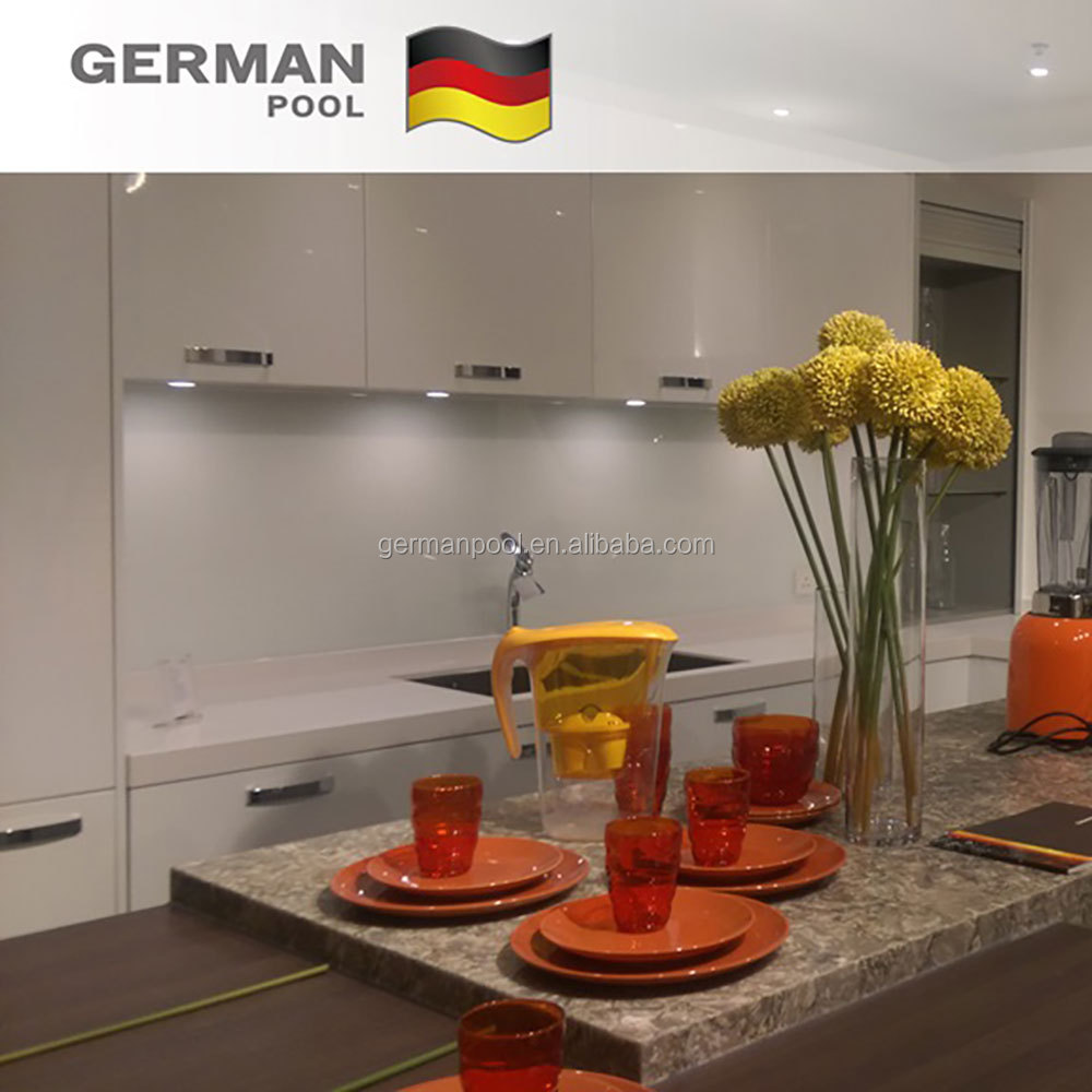 German Pool on demand Durable material ISO 9001 US Damp-proof Acrylic surface Orange Furniture Kitchen Cabinets for Hotel