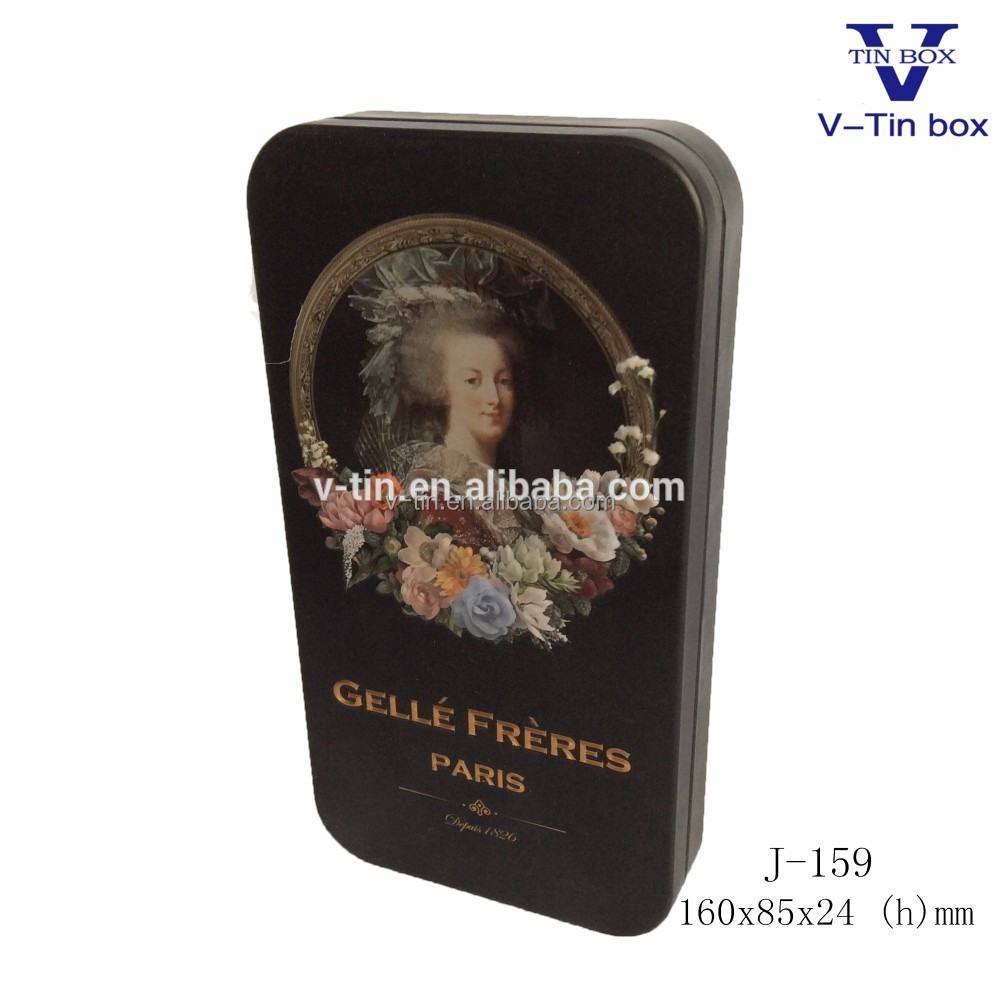 2016 new Vintage style rectangle empty gift tin boxes