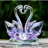 2016 Buy New Crystal Swan For Wedding Gift Wholesale Craft