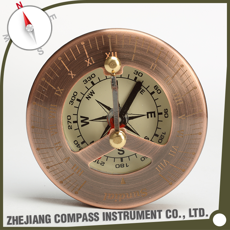 High quality portable brass nautical sundial compass for promotional gift