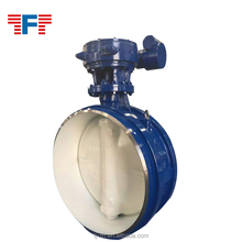 Cast iron soft sealing single / double concentric flange butterfly valve