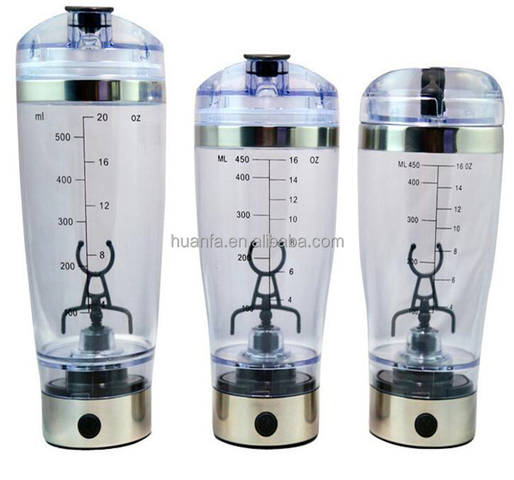 Protein Electric Shaker Movement Automatic Stirring Cup/Stainless Steel Colorful 450/600ML Shaker Bottle Mixer For Gift