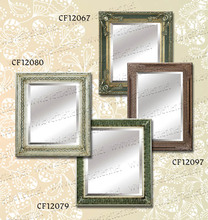 square wall hanging wooden mirror frame