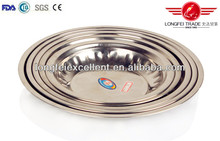 hot selling products Stamp Design Stainless Steel Dinner plate round tray