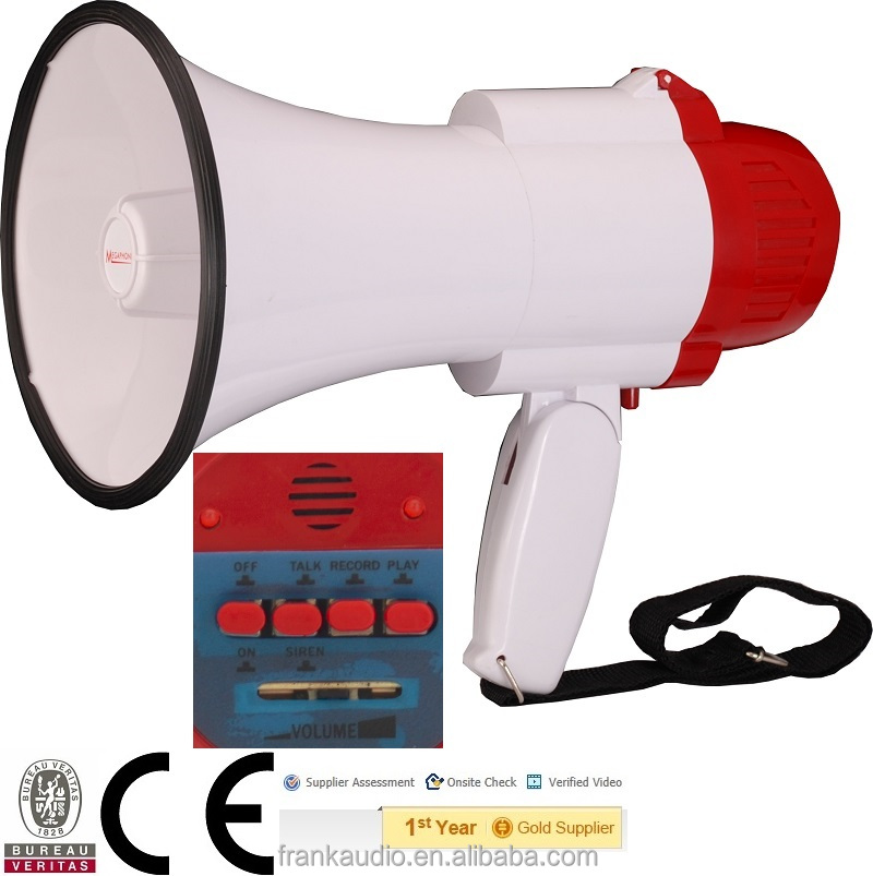 loud speaker with mic record siren talk megaphone