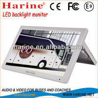 18.5 inch flip down monitor for car, bus, coach