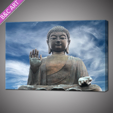 Modern blue sky canvas decorative buddha painting wall art with stretcher bar