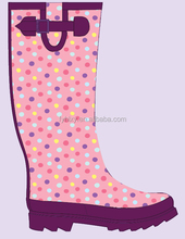 rain boots for lady flower boot new women boots