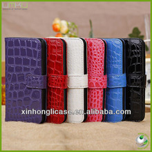 New alligator leather wallet cell phone case for iphone 5c