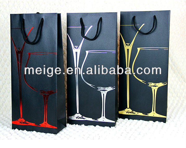 Recyclable wine bag/cheap wine bag /personalized gift wine bags
