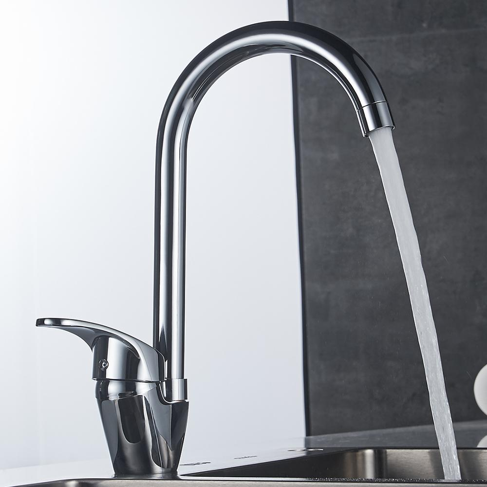 Durable crown kitchen faucet with long neck