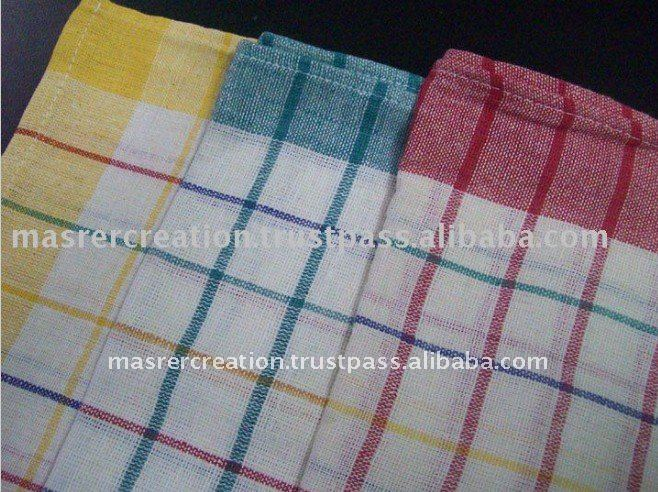 Yarn Dyed Cotton Kitchen Cleaning Home Style Towel Set