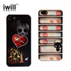 fashion printing mobile rhinestone phone case for iphone 5