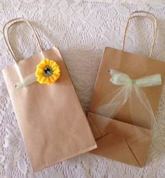 sunflower paper gift bag