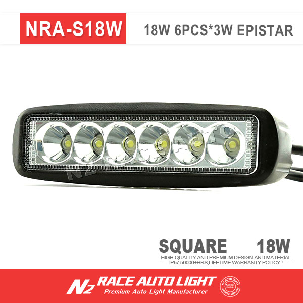 N2 Wholesale Waterproof 18 watt dirt bike led light bar single row work light for powersport 4x4