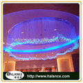 customized design hotel chandelier modern crystal fiber optic light