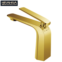 Ti-gold Single lever bathroom basin sink faucet tapware