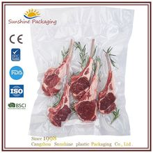 Food packaging pet+pe compound vacuum bag with custom logo