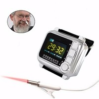 low level laser diabetes and cerebral thrombrosis silver wrist laser device watch