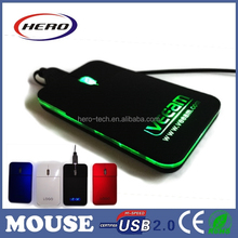 3d optical mini mouse with light up logo