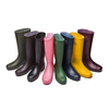 Women's fashion Anti-skid wear-resisting and waterproof PVC rain boot with zipper