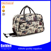 Popular leisure 20/24/28 inches waterproof trolley travel bag