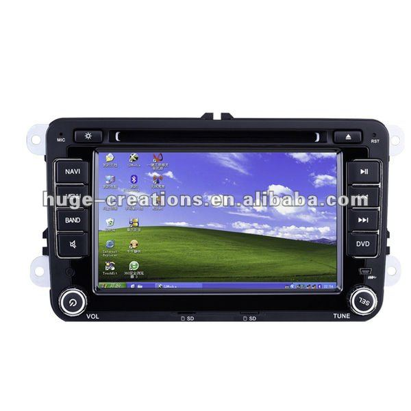 VW Magotan 7 inch car computer pc with windows xp, gps, wif,touchscreen