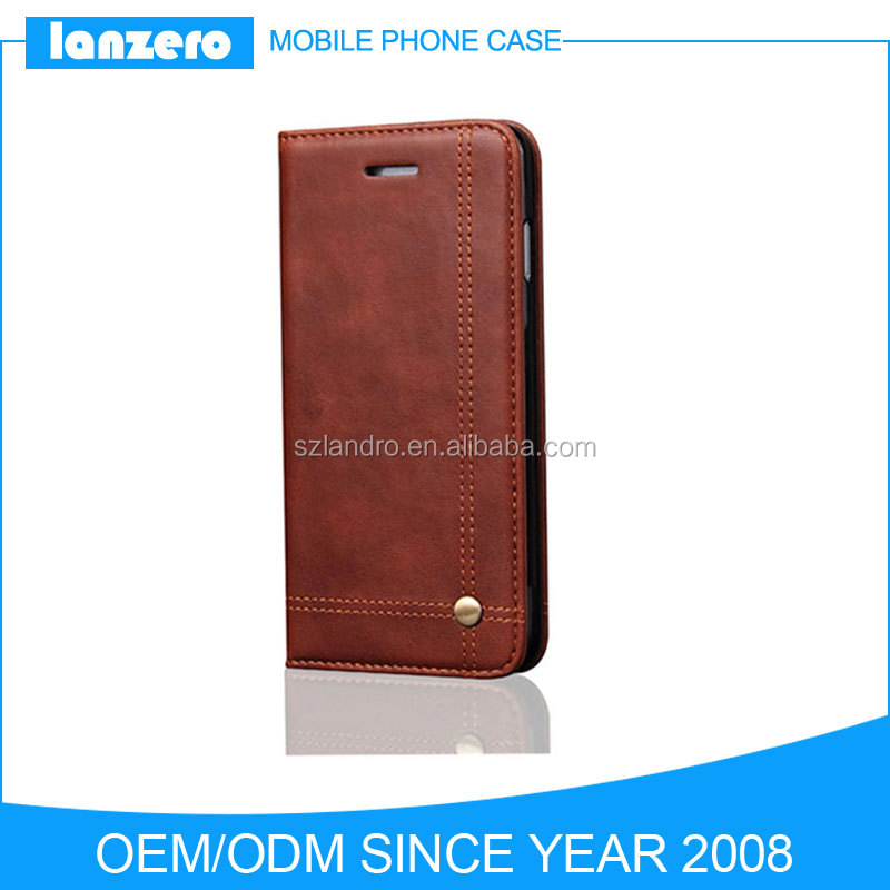 Most Popular Classical PU Leather Wallet Cell Phone Case for iPhone 7