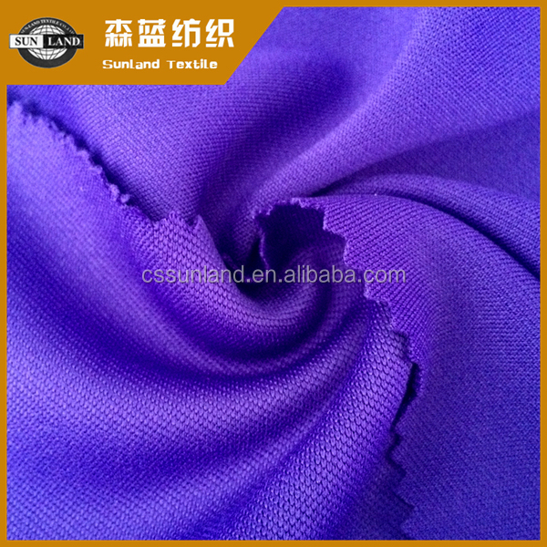 100% polyester knit double plain cloth fabric for sportswear