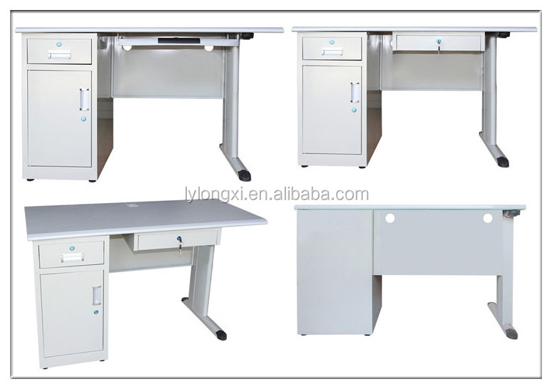 computer desks from Luoyang, modern office furniture with steel,desktop computer table with a small cabinet and drawer