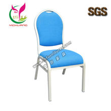 Wholesale nice blue 6cm soft cushion stacking hotel room chair YC-ZL17
