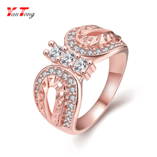 Latest Butterfly Ring Design Personalized Trendy Style Ladies New Rose Gold Ring