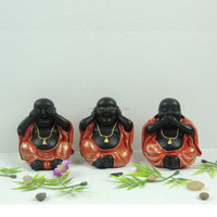 3/s mini size resin baby buddha laughing buddha