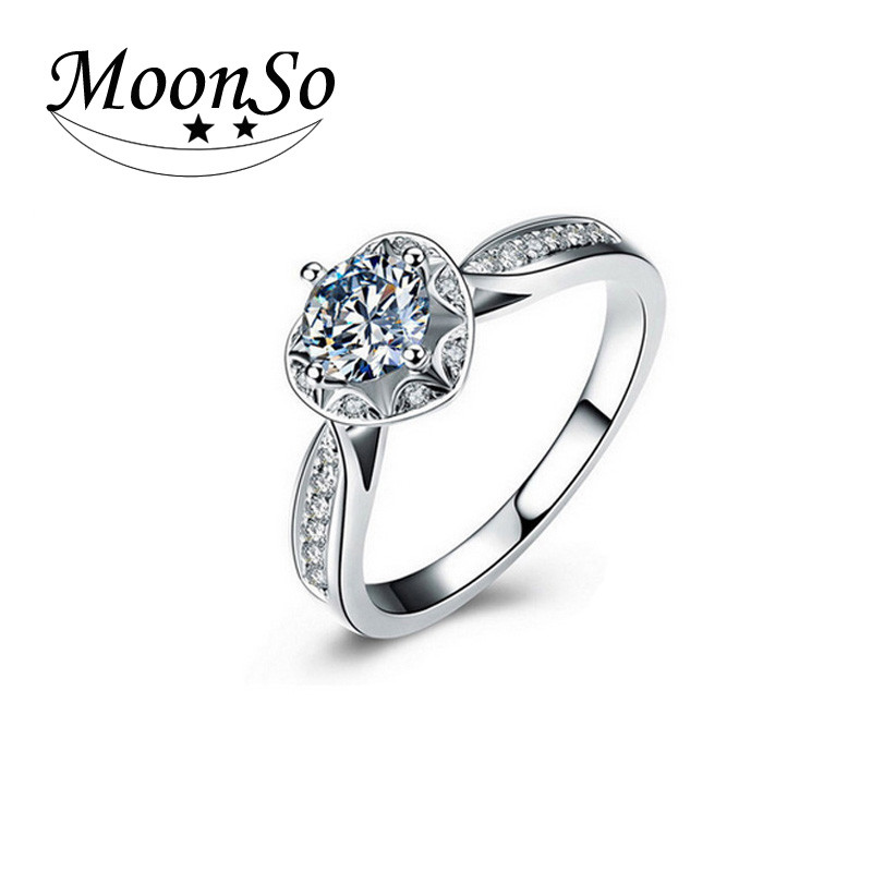 Wholesale High Quality MOONSO Women's Fashion Jewelry Wedding Rings Elegent Wedding Rings Wedding Ring AR869S