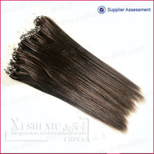 All color accepted Virgin Remy Human Hair Micro Ring Hair Extensions For Black Women