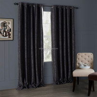280cm Luxury America Style Flower Classic Jacquard Cutting Blackout Curtains For Office Living Room