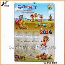 2014 Wall Paint Color Chart Embossed PVC, Calendar 3D Poster Factory & Manufacture