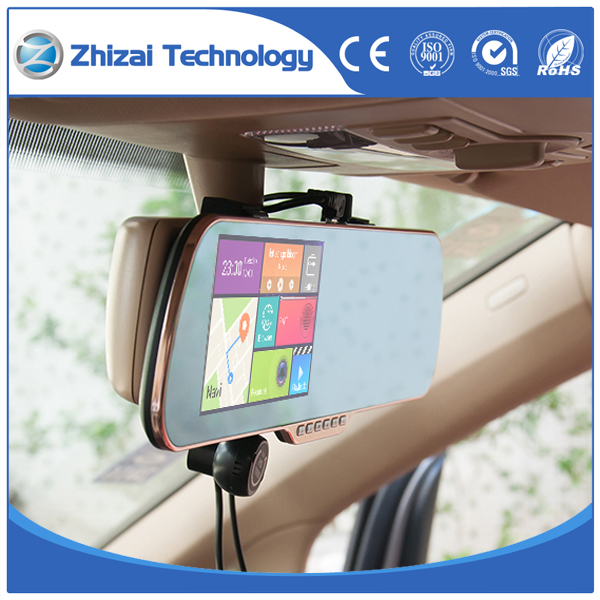 Car rear view mirror 5.0 inch HD DVR Car Camera Recorder Support GPS